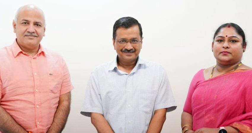 kejriwal aap announcement - malleshwari first vice chancellor of delhi sports university rkdsnt
