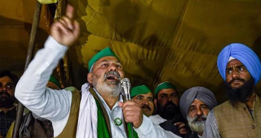 rajasthan unknown people attack on farmer leader rakesh tikait convoy rkdsnt