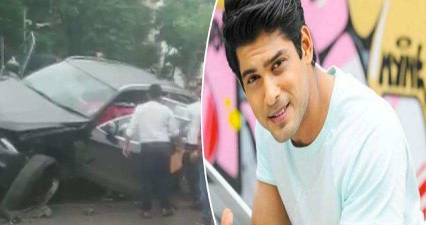 television-actor-siddharth-shukla-hit-three-cars