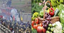 दिल्लीः किसान बाॅर्डर पर डटे, बिगड़े आजादपुर मंडी के हालात