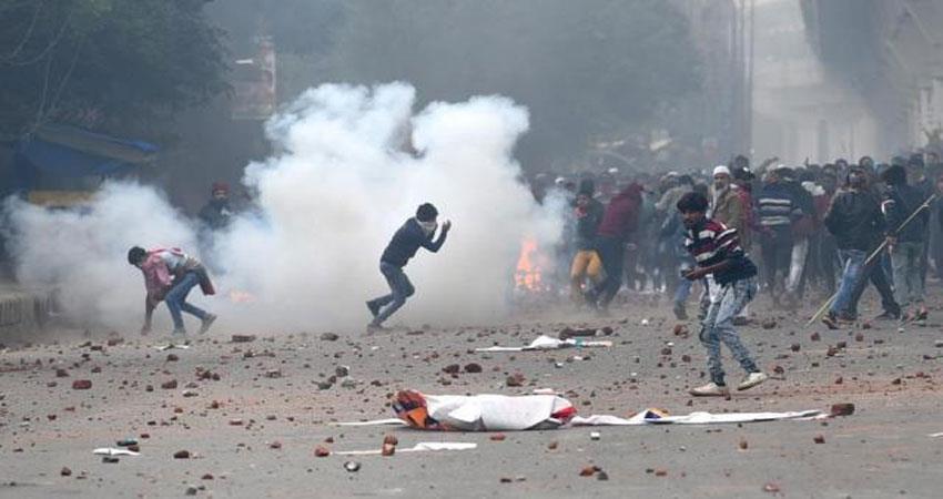 दिल्ली में हिंसा के लिए इमेज नतीजे