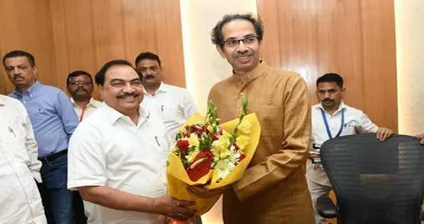 Eknath Khadse met Uddhav Thackeray speculation intensified to quit BJP
