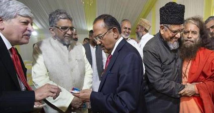 nsa ajit doval meeting hindu and muslim religious leaders on ayodhya case