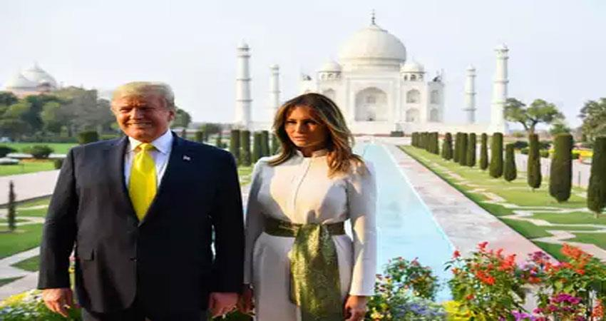 when the trump couple saw the taj mahal wah taj came out of their mouth