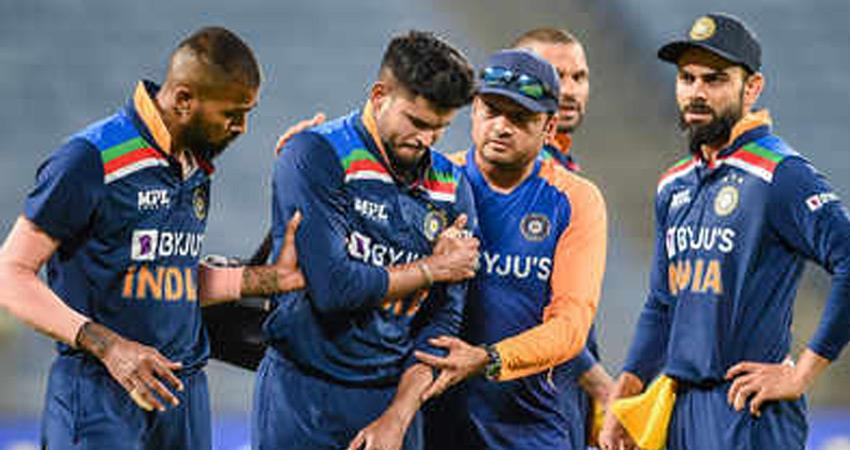 shreyas out of odi series against england doubt about playing in ipl rkdsnt