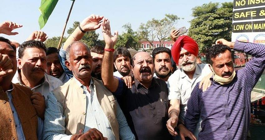 jammu and kashmir congress opposes new land laws pdp also protests rkdsnt