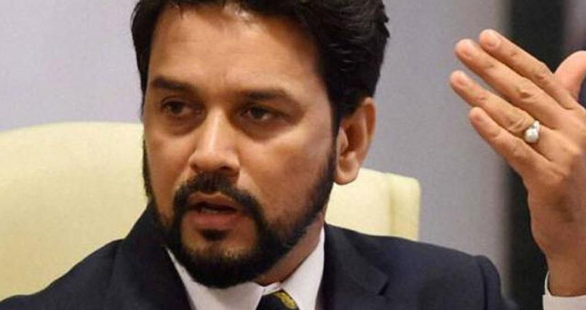 Anurag Thakur says Rahul Gandhi means Didi brother-in-law family to Hum Do Hamare Do rkdsnt