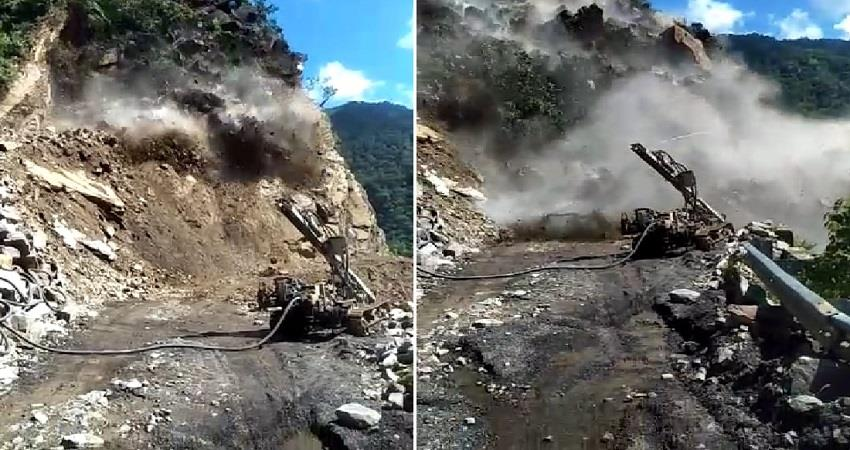 rishikesh-badrinath highway disrupted by heavy landslide at two places pragnt