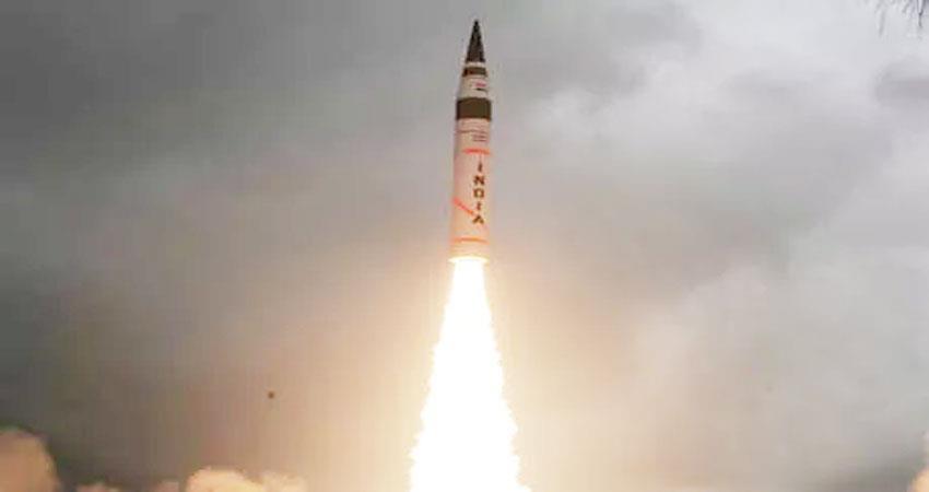 odisha india successfully tests night time agni 2 ballistic missile