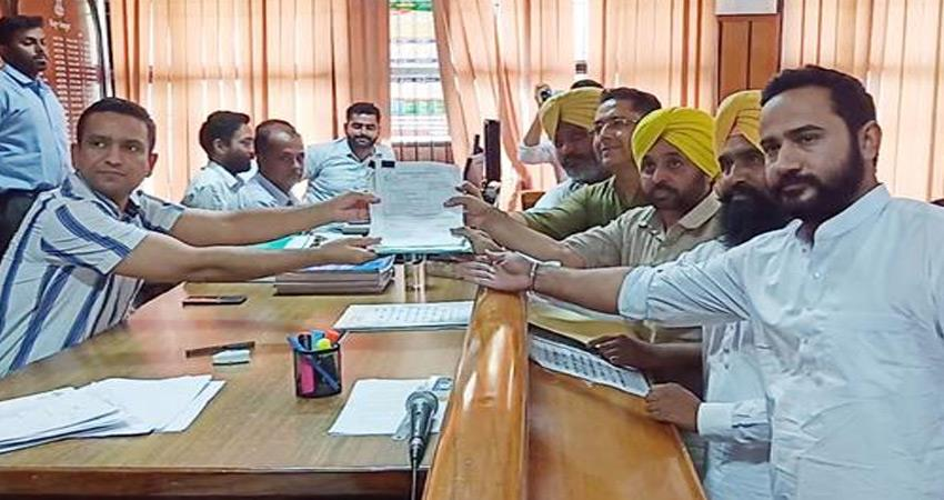 aap-candidate-bhagwant-mann-filed-nomination-from-sangrur-punjab-declared-assets