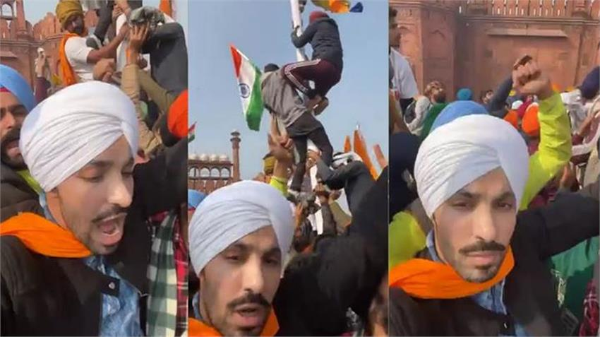 violence in kisan tractor parade opposition raises questions ont deep sidhu as bjp worker rkdsnt