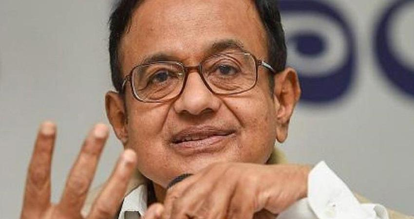 chidambaram congress  attack bjp amit shah says idea of uniting india with hindi is dangerous