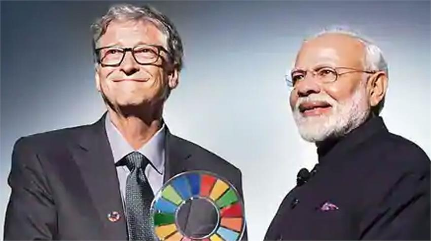pm narendra modi discusses extensively with bill gates on corona crisis india world rkdsnt