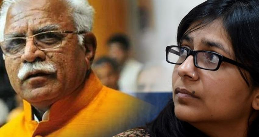delhi women commission slams bjp ml khattar vijay goyal statement on kashmiri woman
