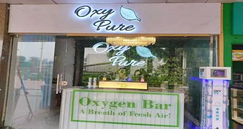 oxygen bar opens in delhi saket amid pollution see video