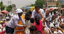 दिल्ली के बाद पंजाब में केजरीवाल ने साधा कांग्रेस और शिअद पर निशाना
