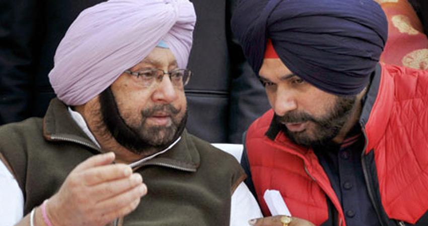 punjab-congress-in-seeks-report-from-state-unit-over-amarinder-singh-navjot-sidhu-case