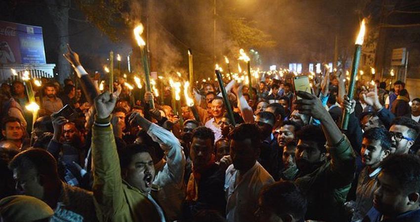 protests against citizenship amendment bill 2019 narendra modi effigy burnt in assam